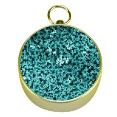 Teal Cubes Gold Compasses