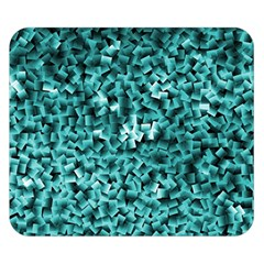 Teal Cubes Double Sided Flano Blanket (Small)