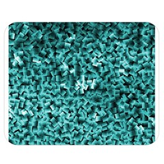 Teal Cubes Double Sided Flano Blanket (Medium)