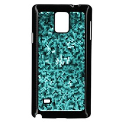 Teal Cubes Samsung Galaxy Note 4 Case (Black)