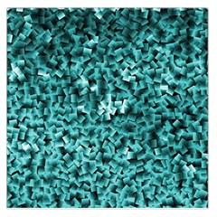 Teal Cubes Large Satin Scarf (Square)