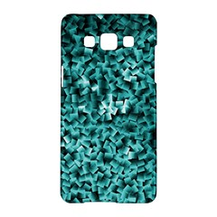 Teal Cubes Samsung Galaxy A5 Hardshell Case