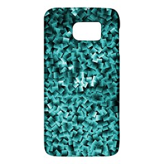 Teal Cubes Galaxy S6