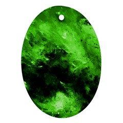 Bright Green Abstract Ornament (oval)