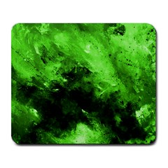 Bright Green Abstract Large Mousepads