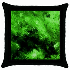 Bright Green Abstract Throw Pillow Cases (black)