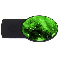 Bright Green Abstract Usb Flash Drive Oval (2 Gb)
