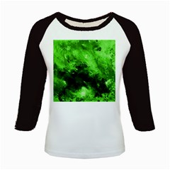Bright Green Abstract Kids Baseball Jerseys