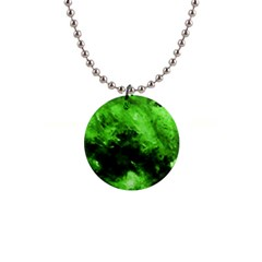 Bright Green Abstract Button Necklaces