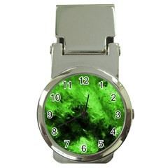 Bright Green Abstract Money Clip Watches