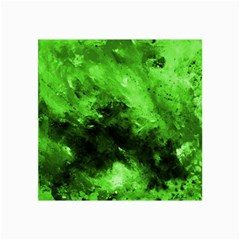 Bright Green Abstract Collage 12  X 18