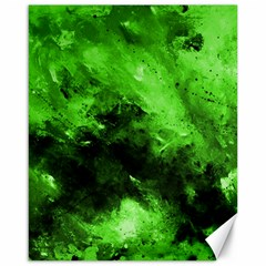 Bright Green Abstract Canvas 16  X 20