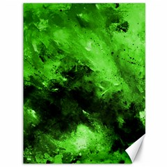 Bright Green Abstract Canvas 36  X 48