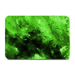 Bright Green Abstract Plate Mats