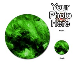 Bright Green Abstract Multi-purpose Cards (Round)