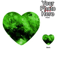Bright Green Abstract Multi-purpose Cards (Heart)