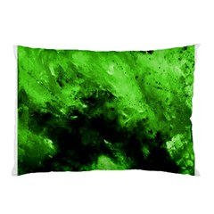 Bright Green Abstract Pillow Cases