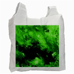 Bright Green Abstract Recycle Bag (one Side)