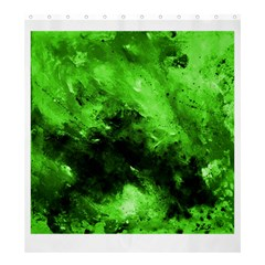 Bright Green Abstract Shower Curtain 66  X 72  (large)