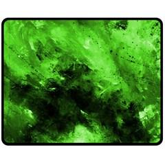Bright Green Abstract Fleece Blanket (Medium)