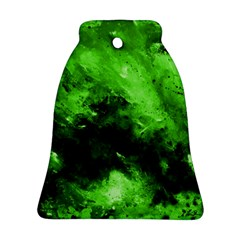 Bright Green Abstract Bell Ornament (2 Sides)