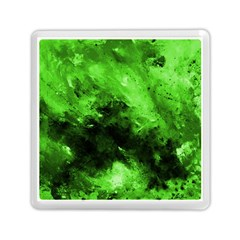 Bright Green Abstract Memory Card Reader (square)