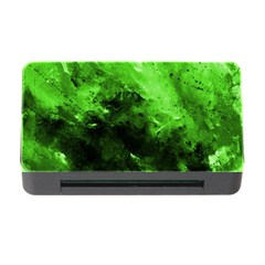 Bright Green Abstract Memory Card Reader with CF