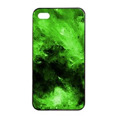 Bright Green Abstract Apple iPhone 4/4s Seamless Case (Black)