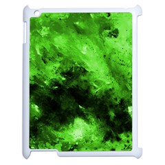 Bright Green Abstract Apple Ipad 2 Case (white)