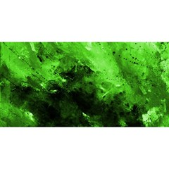 Bright Green Abstract YOU ARE INVITED 3D Greeting Card (8x4)