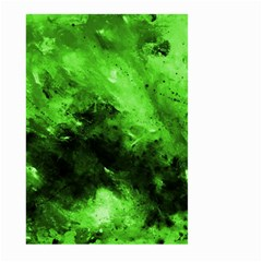 Bright Green Abstract Large Garden Flag (Two Sides)