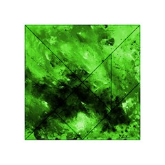 Bright Green Abstract Acrylic Tangram Puzzle (4  X 4 )