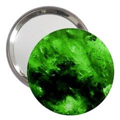Bright Green Abstract 3  Handbag Mirrors