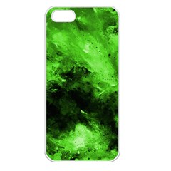 Bright Green Abstract Apple Iphone 5 Seamless Case (white)