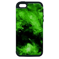 Bright Green Abstract Apple Iphone 5 Hardshell Case (pc+silicone)