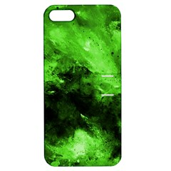 Bright Green Abstract Apple Iphone 5 Hardshell Case With Stand
