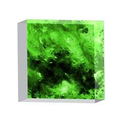 Bright Green Abstract 4 x 4  Acrylic Photo Blocks