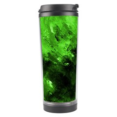 Bright Green Abstract Travel Tumblers