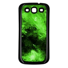 Bright Green Abstract Samsung Galaxy S3 Back Case (black)