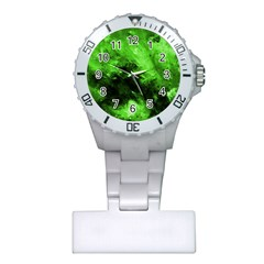 Bright Green Abstract Nurses Watches
