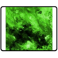 Bright Green Abstract Double Sided Fleece Blanket (Medium)