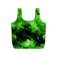 Bright Green Abstract Full Print Recycle Bags (s)