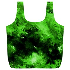 Bright Green Abstract Full Print Recycle Bags (l)