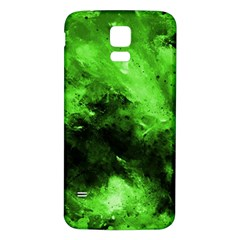 Bright Green Abstract Samsung Galaxy S5 Back Case (White)