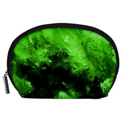 Bright Green Abstract Accessory Pouches (large)