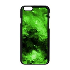 Bright Green Abstract Apple iPhone 6 Black Enamel Case