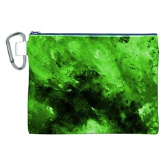 Bright Green Abstract Canvas Cosmetic Bag (XXL)