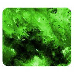 Bright Green Abstract Double Sided Flano Blanket (small)