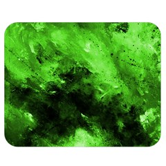 Bright Green Abstract Double Sided Flano Blanket (Medium)