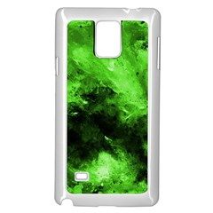 Bright Green Abstract Samsung Galaxy Note 4 Case (White)